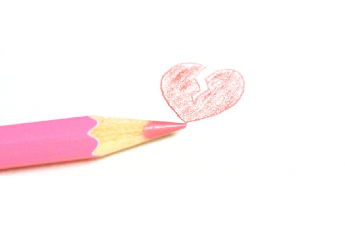 鉛筆で書かれたハート
