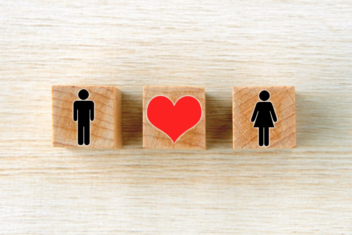 積み木のカップル