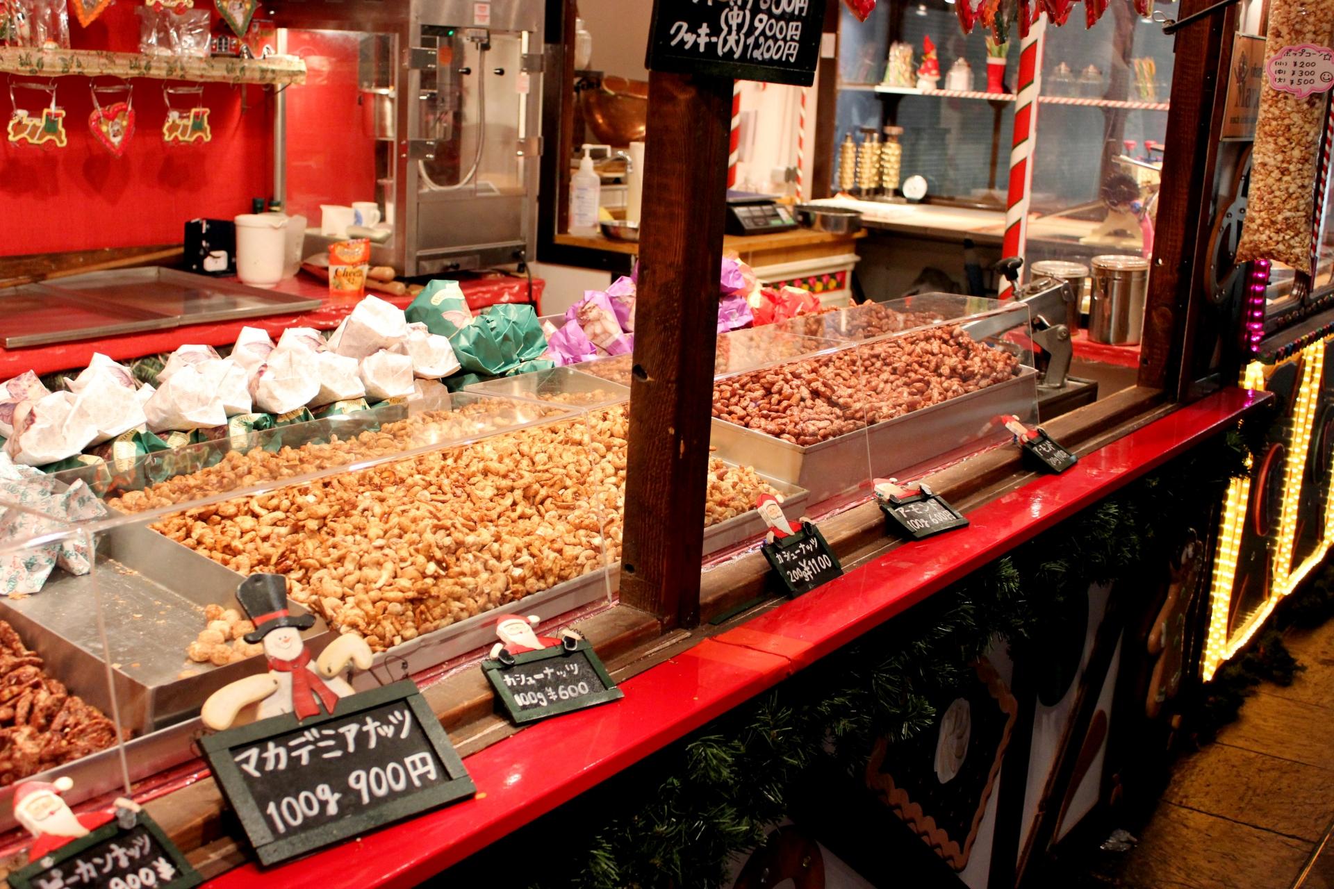 クリスマスマーケットのグルメ